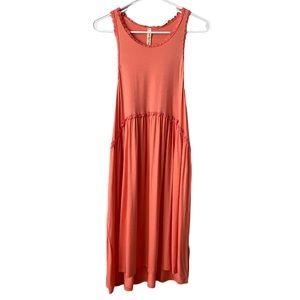 My Beloved Sleeveless Coral Lightweight Dress NWOT